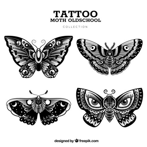 old butterfly tattoo collection vector free download