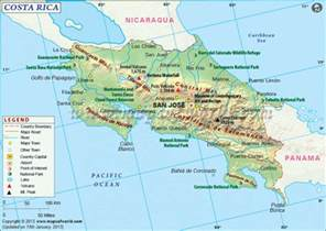 Costa Rica Map World by 2015 Costa Rica A Touch Of The Tropics Grand River