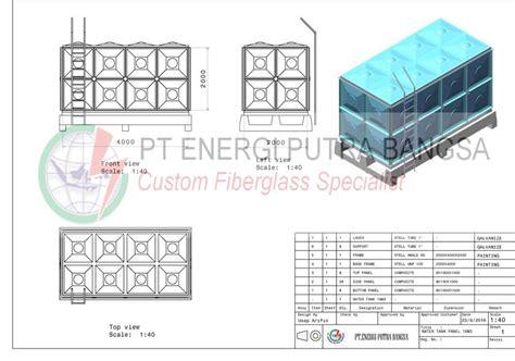 Tangki Panel Fiberglass Frp tangki panel fiberglass penungan air harga diskon