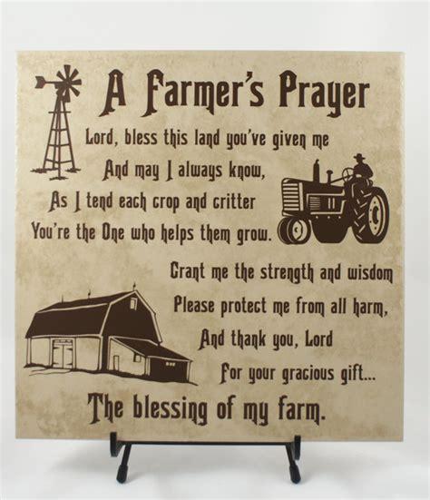 farmers prayer american farmer farming family gift