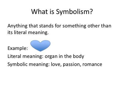 what is the meaning of template mini lesson 3 symbolism