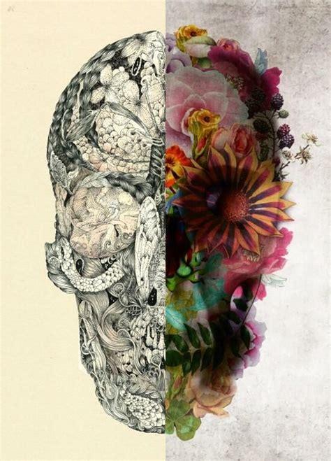 Flower Skull skull and flower drawing tattoos