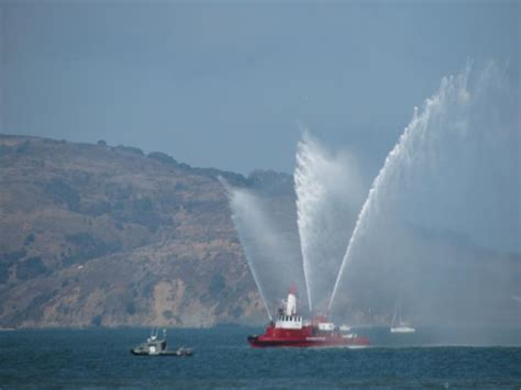 fire boat water cannon file fire boat phoenix employs her water cannons off san