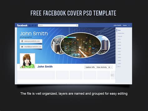 free facebook cover psd template by xara24 on deviantart