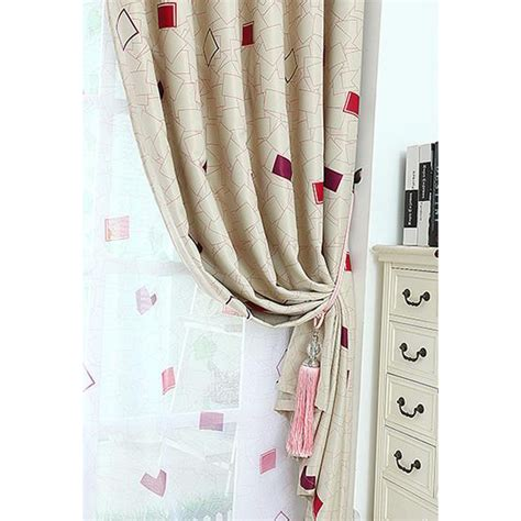80 inch drop curtains beautiful beige blackout polyester beige and red gingham print polyester insulated bedroom