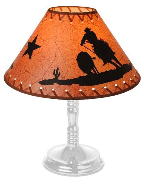 jt 87 93450 western cowboy amp steer lamp shade