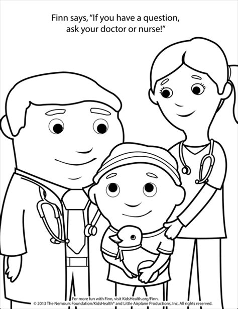 coloring pages nurses and doctors coloring page doctor and nurse