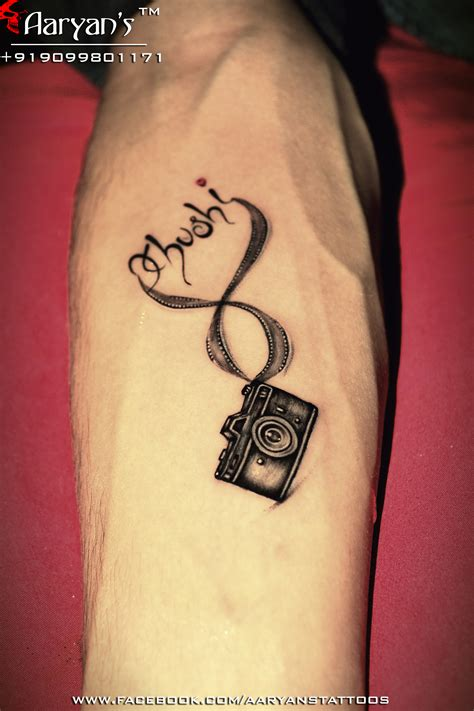 camera tattoo ideas beautiful small and infinity s name concept
