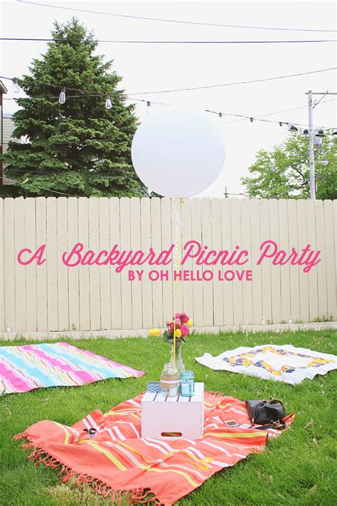 backyard picnic oh hello love a backyard picnic party