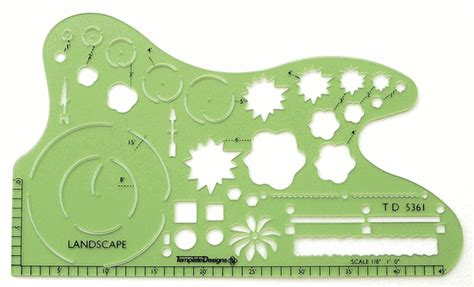 alvin td5361 1 8 quot scale landscaping drafting template