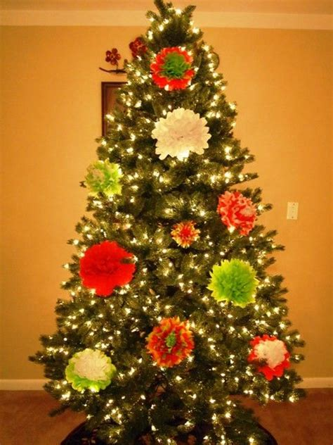 how to make tissue paper flower ornaments for your