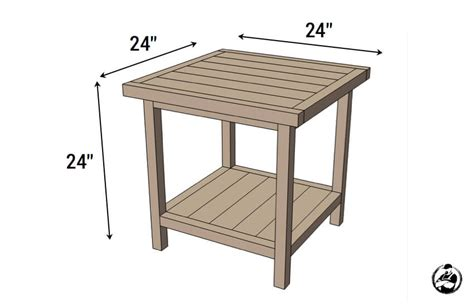 bedside table dimensions simple square side table free diy plans rogue engineer
