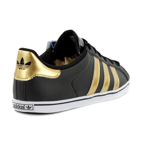adidas court slim black metal gold white s shoes g60735 new ebay