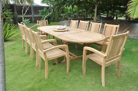 Garden Table Set Sale Clearance 10 Seater Teak Garden Set Large Oval