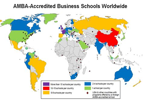 Mba Schools Maps by File Amba Accredited Business Schools Worldwide Png