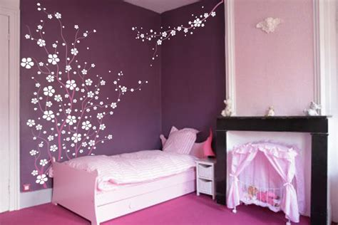 blossoms bedroom large wall tree nursery decal japanese magnolia cherry blossom flowers branch 1121