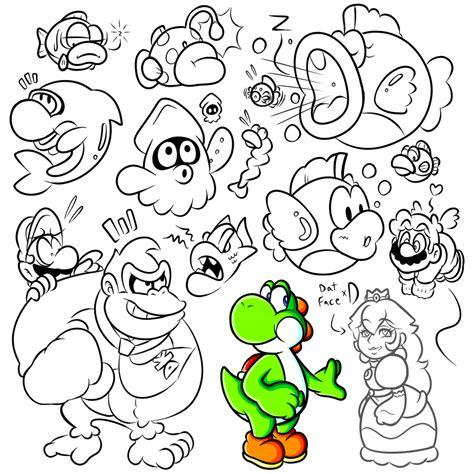 doodle deviantart sai doodles late mario enemies 2 by