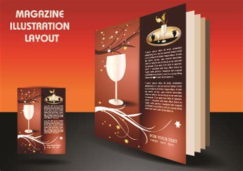 magazine pages layout design vector magazine pages and cover layout design vector 06 vector