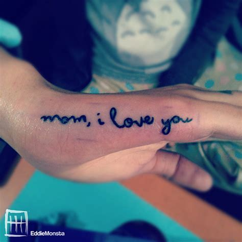 i love you mom tattoo i you on behance
