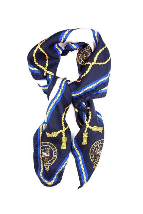 logo silk scarf blue of oxford shop