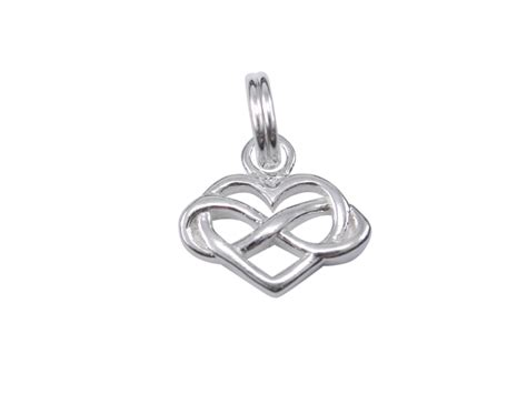 sterling silver 12x8mm infinity charm with split