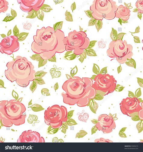 pink rose pattern clipart elegance seamless wallpaper pattern pink roses stock