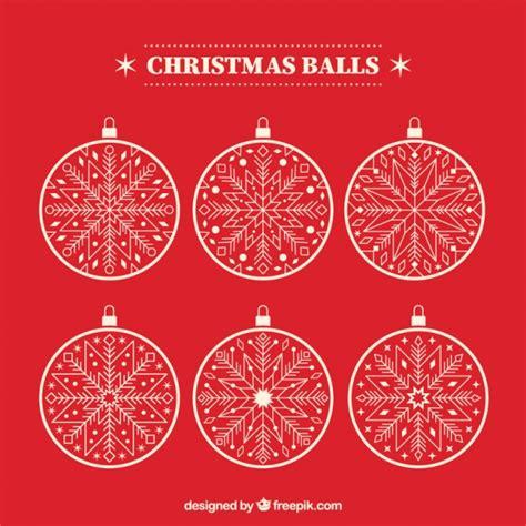 pack of six white christmas balls vector premium download