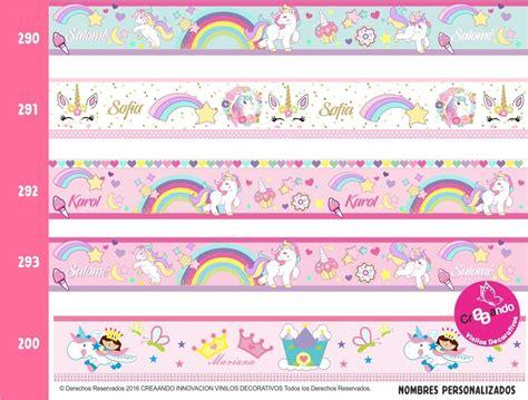 cenefas de unicornio cenefas decorativas princesas frozen hadas unicornios