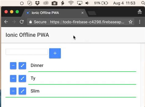 ionic tutorial firebase creating an ionic pwa with firebase offline and service