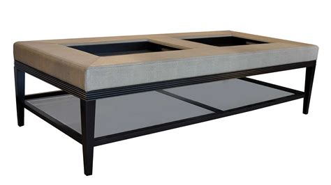 large leather coffee table ottomans plush home carlisle double coffee table ottoman