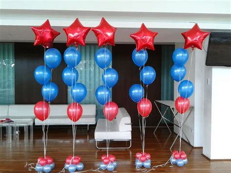 imagenes en columnas latex decoraci 243 n con globos de helio imagui