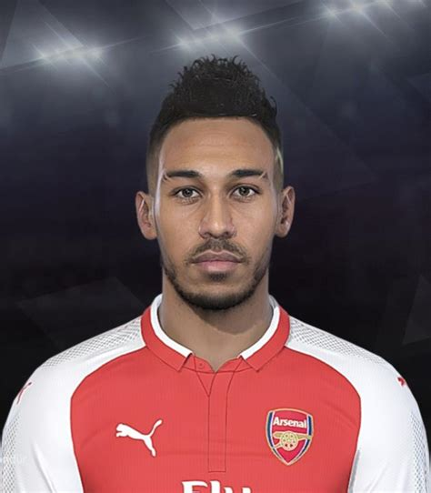 arsenal pes 2018 pes 2018 aubameyang arsenal face by emret pes patch