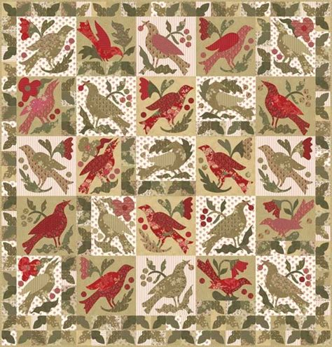 pattern paper hancock moda blackbird cinnamon spice blackbirds quilt kit a