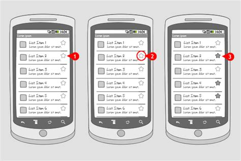 design pattern used in android favorites android interaction design patterns