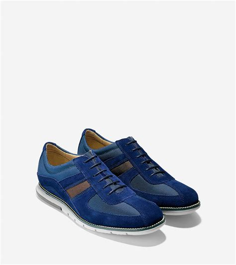 sport oxford shoe lyst cole haan grandsprint sport oxford in blue for