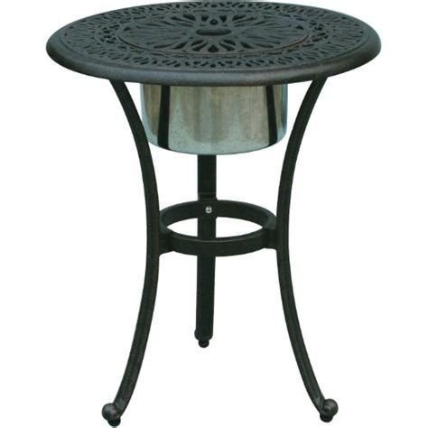 Outdoor Patio End Tables Buy Darlee Elisabeth Cast Aluminum Patio End Table With Insert Antique Bronze In