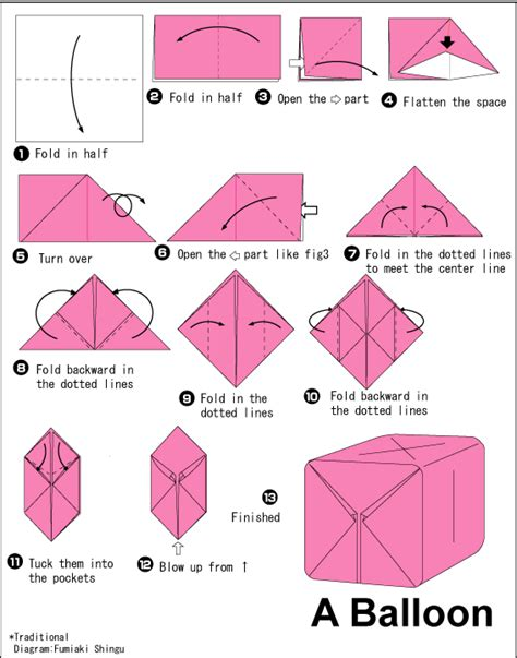 Origami Balloon Step By Step - fear loathing with a rebel two in one origami