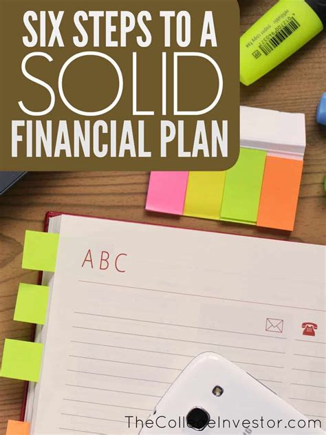 Financial Planning Your Personal Financial Plan 6 elements of a solid personal financial plan