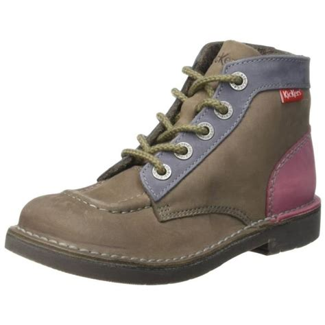 Chaussures Kickers by Bottines Low Boots Kick Col Femme Kickers 393438 Gris Achat Vente Bottine Cdiscount