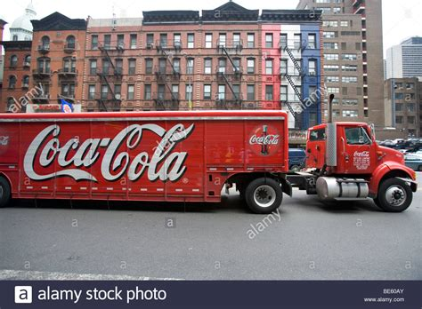 truck york coca cola truck in manhattan york usa stock photo