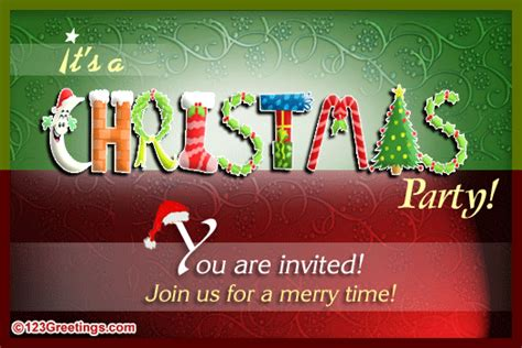 christmas invitation free invitations ecards greeting