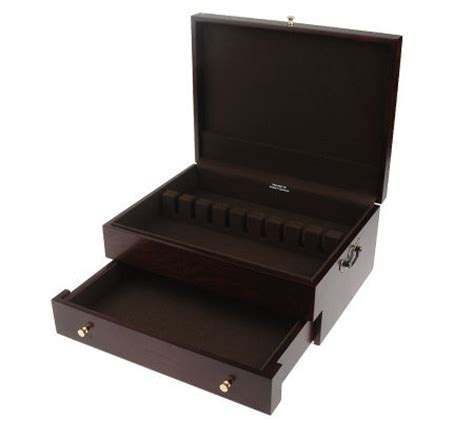 Reed And Barton Handcrafted Chests - reed barton handcrafted flatware chest h06747 qvc