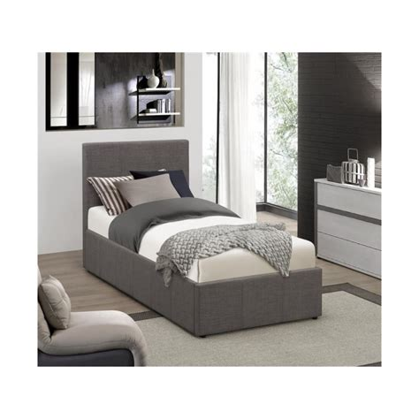 grey fabric ottoman bed lyon ottoman single bed frame grey fabric