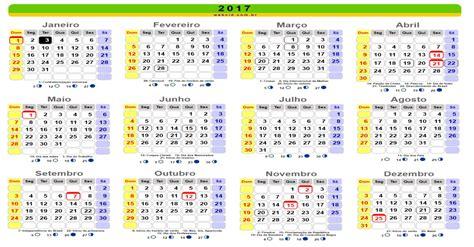 Calendario Completo 2017 Calend 225 2017 Feriados Nacionais Brasil Melhor