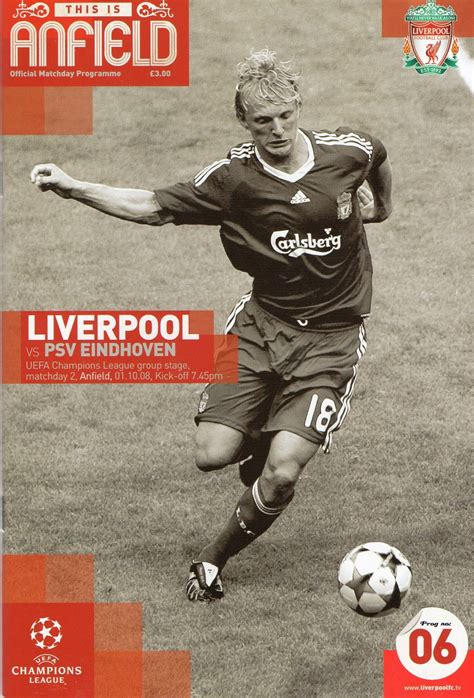 60 mins with steven gerrard lfchistory stats galore matchdetails from liverpool psv eindhoven played on