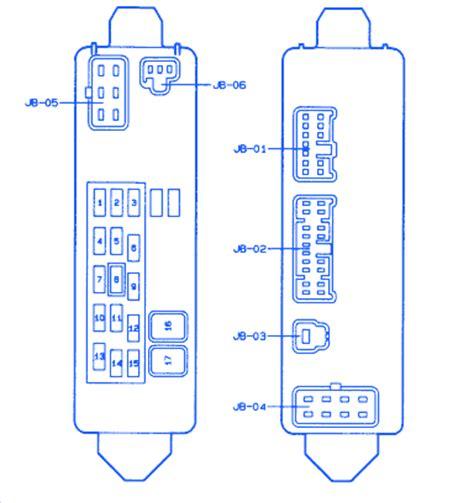 mazda protege  fuse boxblock circuit breaker diagram