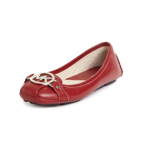 mk flats shoes michael kors fulton moccasin flats in lyst