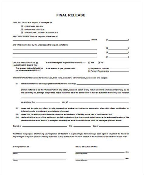 insurance release form template 51 sle claim forms