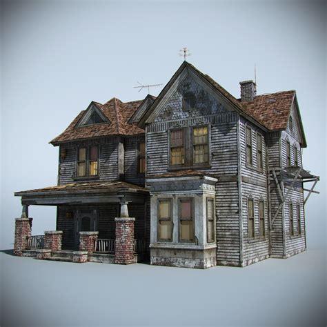 house home 3d obj old farm house 3d model max obj fbx cgtrader com