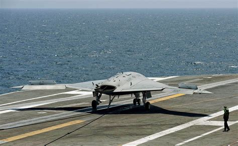 drone w after two historic carrier landings navy s x 47b drone